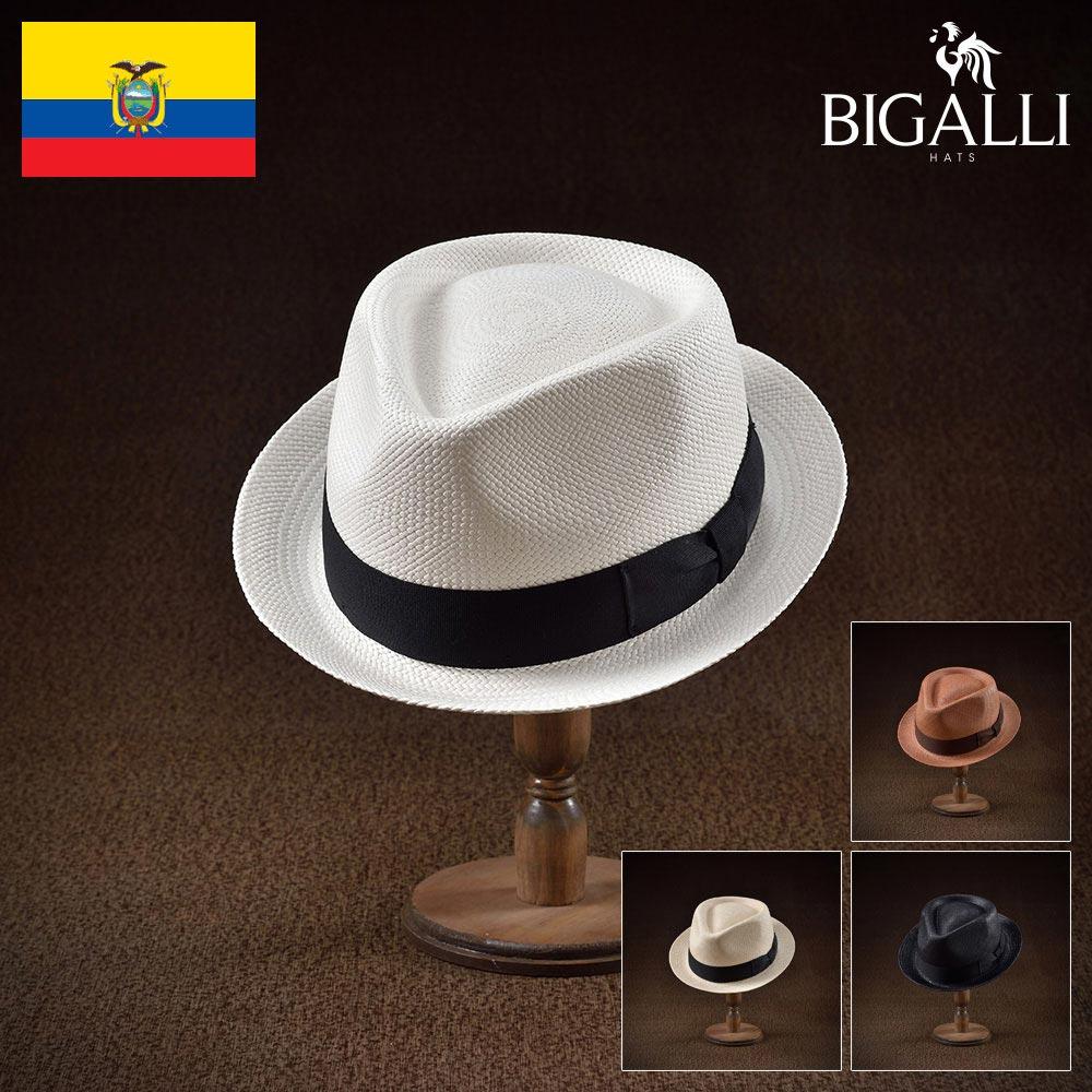 パナマハット パナマ帽 中折れ帽子 メンズ レディース フェドラ トリルビー ハット 帽子 紳士 春夏 大きいサイズ 紳士帽 メンズ帽子 ギフト プレゼント 送料無料 あす楽 S M L XL エクアドル製 BIGALLI [ボストン]