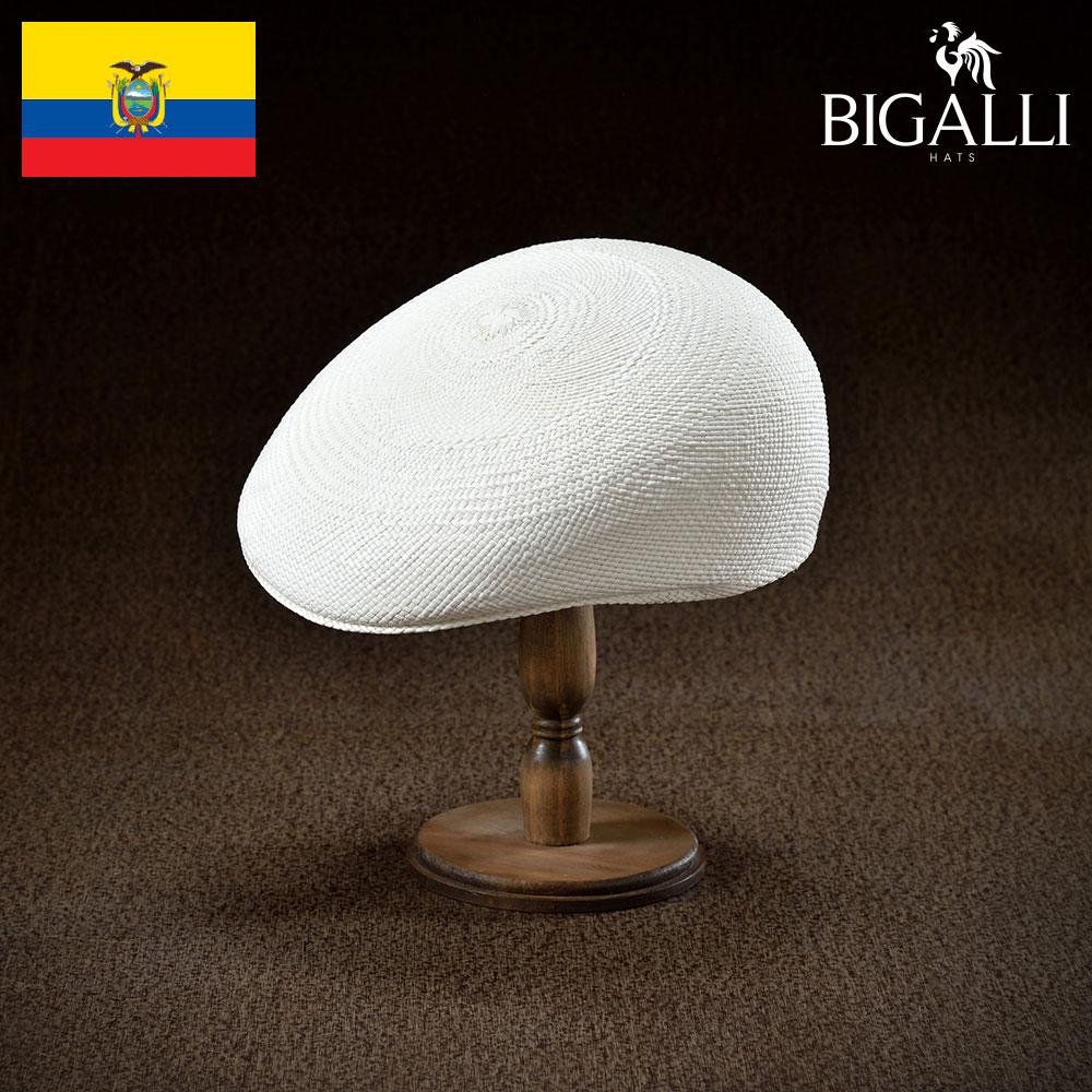 ハンチング メンズ レディース パナマ草 帽子 キャップ 紳士 春 夏 春夏 天然素材 大きいサイズ S M L XL エクアドル製 BIGALLI [アスコット] 紳士帽 メンズ帽子 ギフト プレゼント あす楽 送料無料