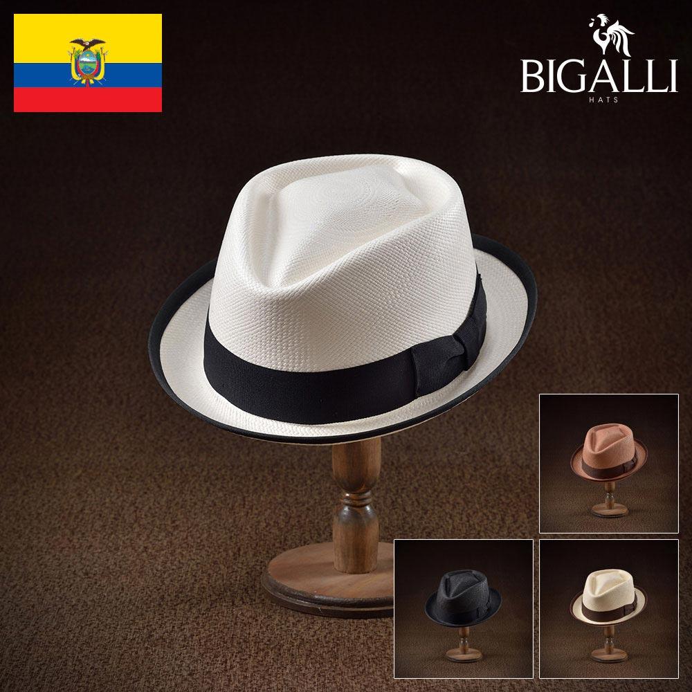 メンズ パナマハット パナマ帽 中折れ帽子 フェドラハット 帽子 レディース 紳士 春夏 大きいサイズ 紳士帽 メンズ帽子 ギフト プレゼント 送料無料 あす楽 S M L XL エクアドル製 BIGALLI [レシエンテ]