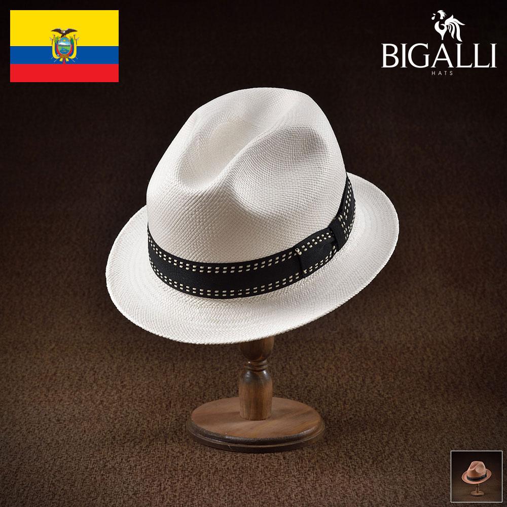 パナマハット パナマ帽 BIGALLI ビガリ MADERA マデラ メンズ レディース 男性 女性 帽子 ハット エクアドル製 本パナマ草 トキヤ草 手編み ストローハット 麦わら帽子 大きいサイズ 父の日 ギフト あす楽