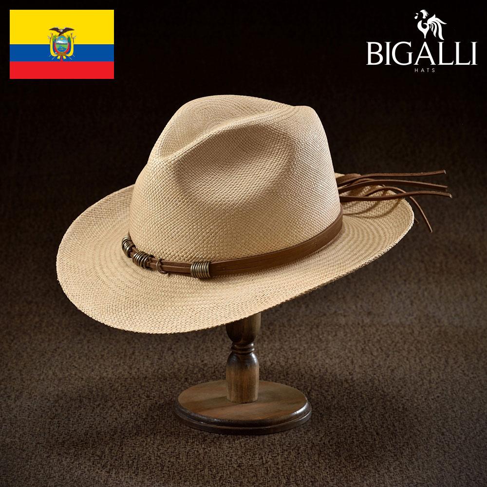 パナマハット メンズ レディース パナマ帽 中折れ帽子 フェドラハット 帽子 紳士 春夏 大きいサイズ 紳士帽 メンズ帽子 ギフト プレゼント 送料無料 あす楽 S M L XL エクアドル製 BIGALLI [レイラ]