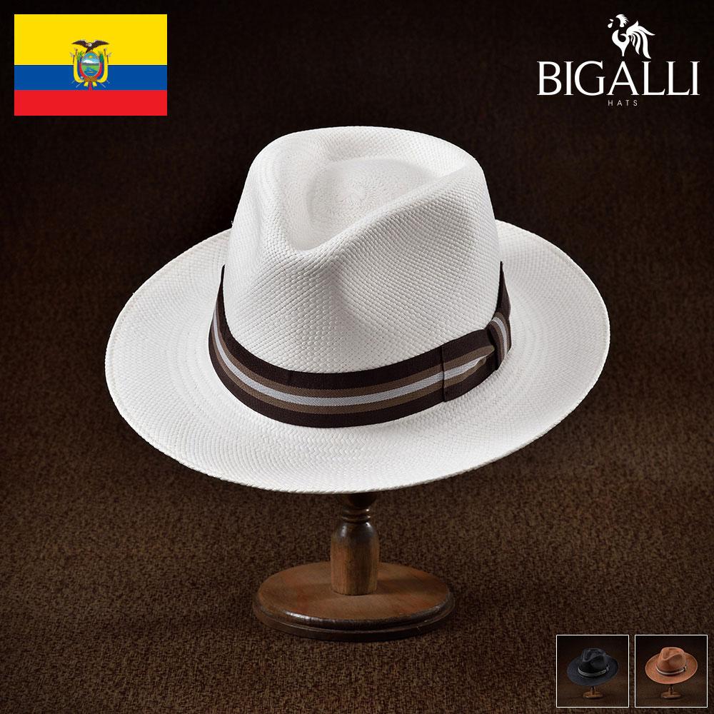 メンズ パナマハット パナマ帽 中折れ帽子 フェドラハット 帽子 レディース 紳士 春 夏 春夏 大きいサイズ S M L XL エクアドル製 BIGALLI [ジュリエット] 紳士帽 メンズ帽子 プレゼント あす楽 送料無料 送料無料