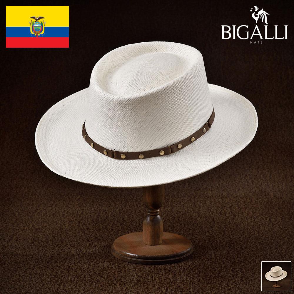 パナマハット パナマ帽 BIGALLI ビガリ GAMBLER ガンブレール メンズ レディース 男性 女性 帽子 ハット エクアドル製 本パナマ草 トキヤ草 手編み ストローハット 麦わら帽子 大きいサイズ 父の日 ギフト あす楽