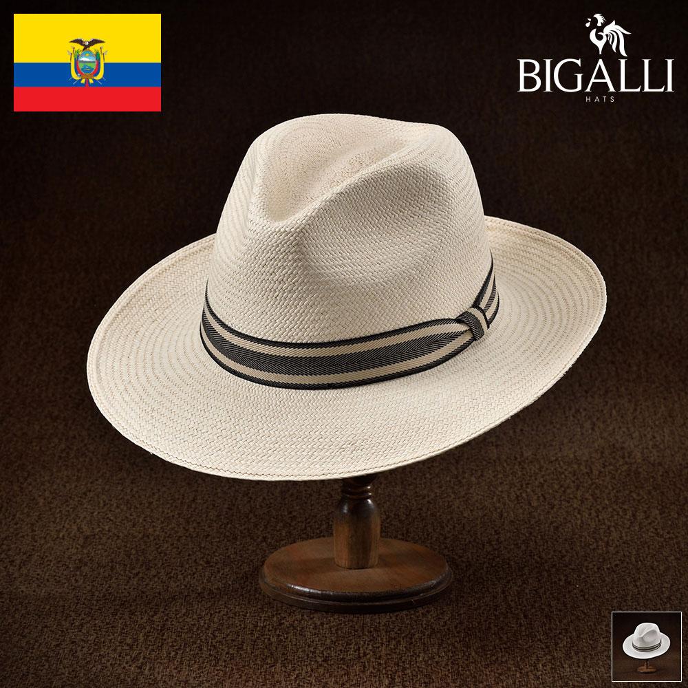 メンズ パナマハット パナマ帽 中折れ帽子 フェドラハット 帽子 レディース 紳士 春 夏 春夏 大きいサイズ S M L XL エクアドル製 BIGALLI [ロングベイ] 紳士帽 メンズ帽子 ギフト プレゼント あす楽 送料無料