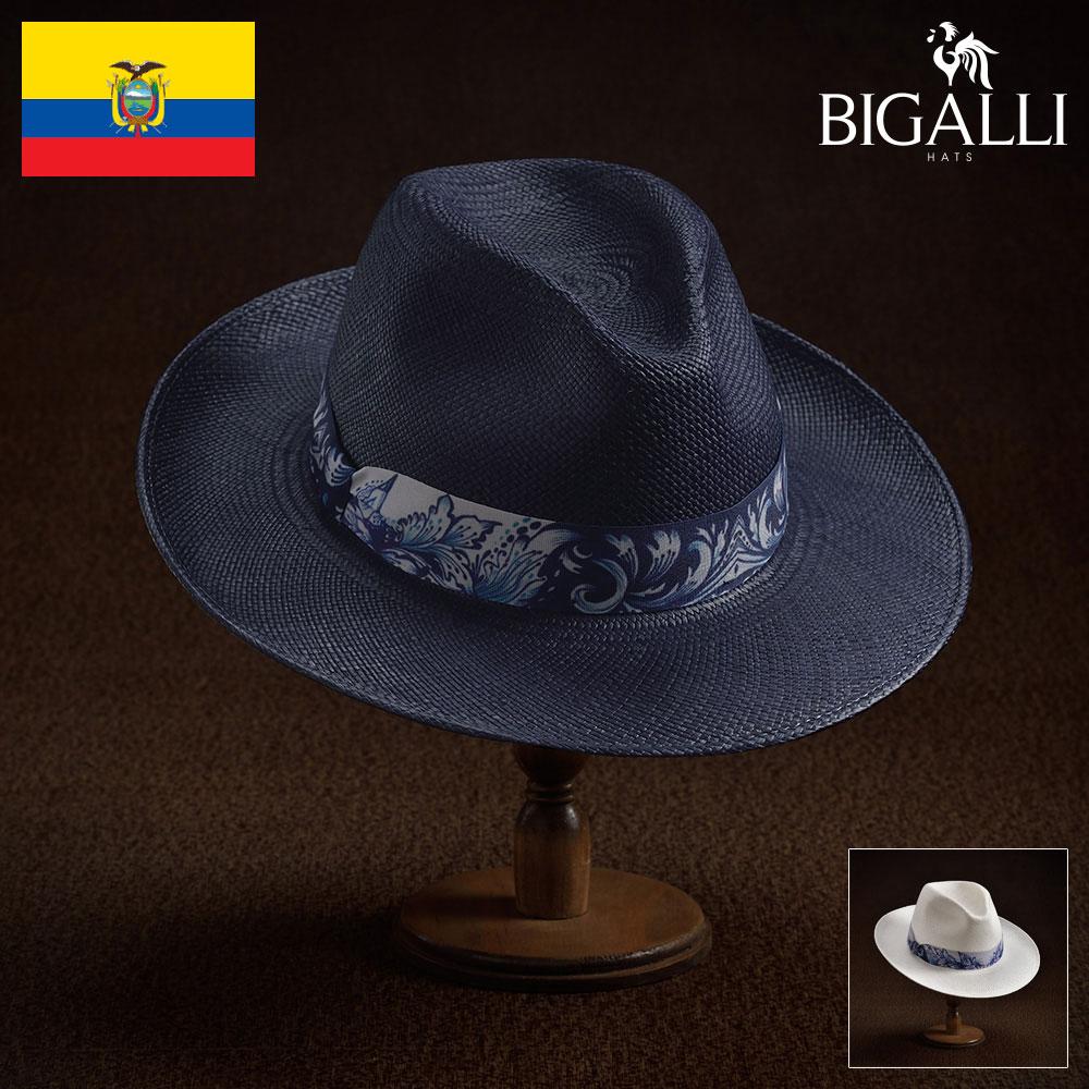 パナマハット メンズ レディース パナマ帽 中折れ帽子 フェドラハット 帽子 紳士 春夏 大きいサイズ ボタニカル柄 エクアドル製 紳士帽 メンズ帽子 プレゼント 送料無料 あす楽 S M L XL BIGALLI [アスール]