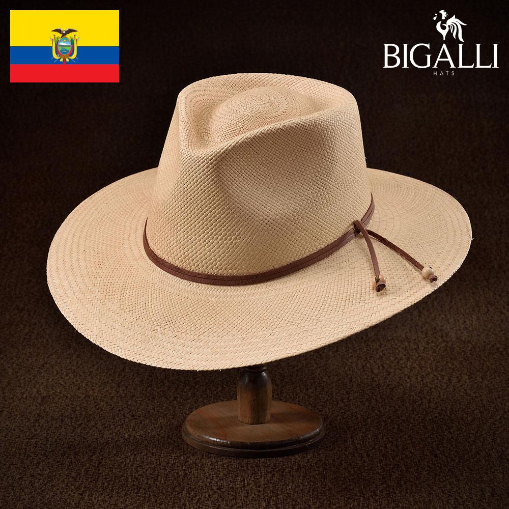 メンズ パナマハット パナマ帽 中折れ帽子 フェドラハット 帽子 レディース 紳士 春 夏 春夏 大きいサイズ つば広 S M L XL エクアドル製 BIGALLI [テッサ] 紳士帽 メンズ帽子 ギフト プレゼント あす楽 送料無料 送料無料