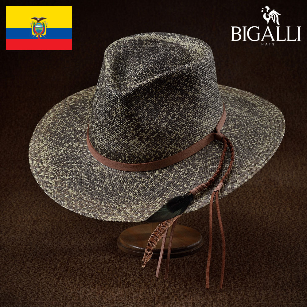 パナマハット メンズ レディース パナマ帽 中折れ帽子 フェドラハット 帽子 紳士 春 夏 春夏 大きいサイズ S M L XL エクアドル製 BIGALLI [ホープ] 紳士帽 メンズ帽子 ギフト プレゼント あす楽 送料無料