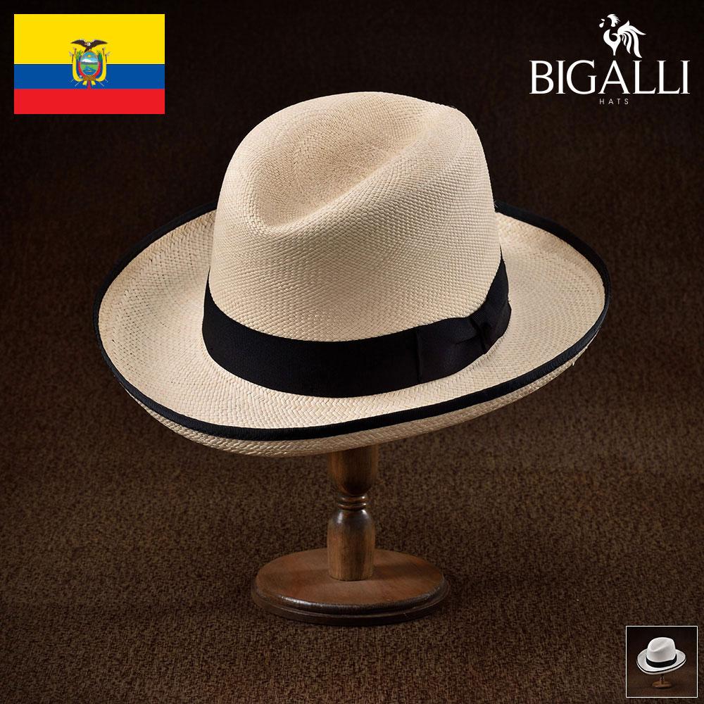 パナマハット パナマ帽 メンズ レディース ホンブルグ 中折れ帽子 フェドラハット 帽子 紳士 春 夏 春夏 大きいサイズ S M L XL エクアドル製 BIGALLI [ゴッドファーザーパナマ] 紳士帽 メンズ帽子 プレゼント あす楽 送料無料