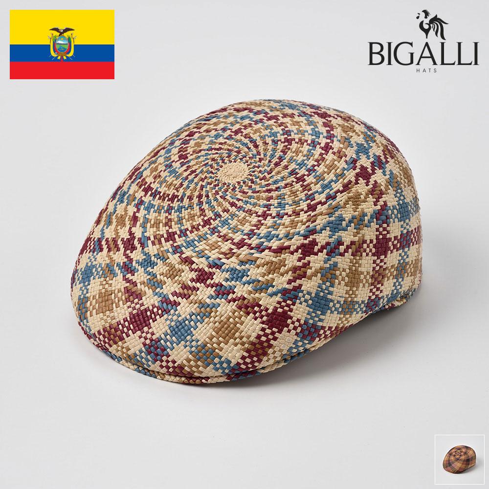 ハンチング メンズ パナマ帽 春夏 大きいサイズ ハンチング帽 パナマハット 紳士帽 ミックス マルチ M(57-58) L(59-60) BIGALLI(ビガリ) マーサ あす楽 送料無料