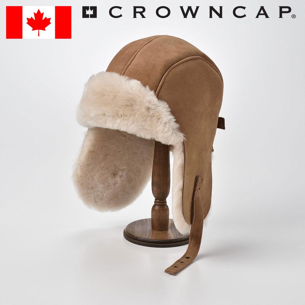 フライトキャップ メンズ レディース パイロットキャップ 飛行帽 ボンバーキャップ アビエイター ボア スエードキャップ 帽子 秋 冬 M L XL XXL キャメル CROWNCAP [ダブルフェイスシェアリングアヴィエイター] あす楽 送料無料
