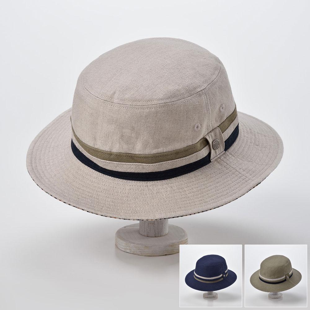 サファリハット ソフトハット メンズ レディース ハット 帽子 リネン 麻 紳士 ハウスチェック 大きいサイズ 調節可 春 夏 春夏 S M L LL 3L DAKS ダックス [サファリリネンオックスD1608] メンズ帽子 あす楽 送料無料