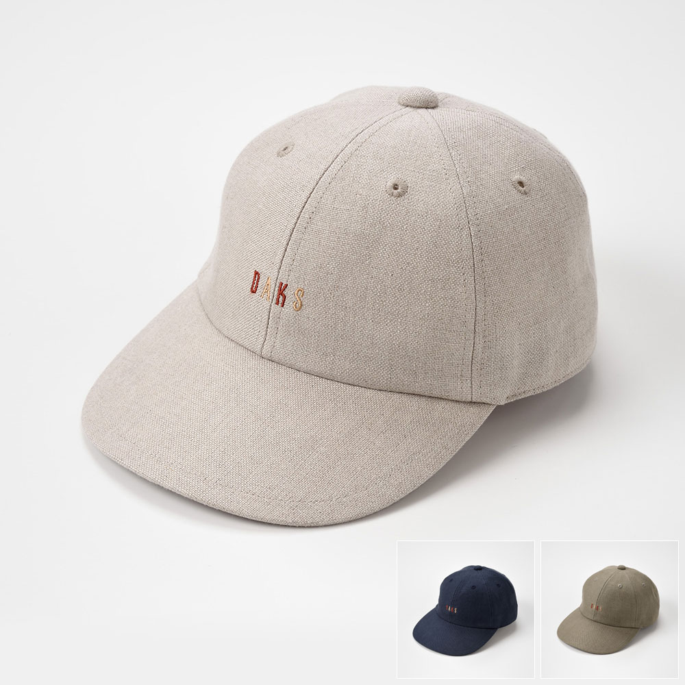 DAKS ダックス ベースボールキャップ メンズ レディース ロゴキャップ キャップ 野球帽 カジュアル 帽子 紳士 大きいサイズ 調節可 春 夏 春夏 S M L LL [キャップリネンオックスD1609] メンズ帽子 紳士帽 プレゼント あす楽