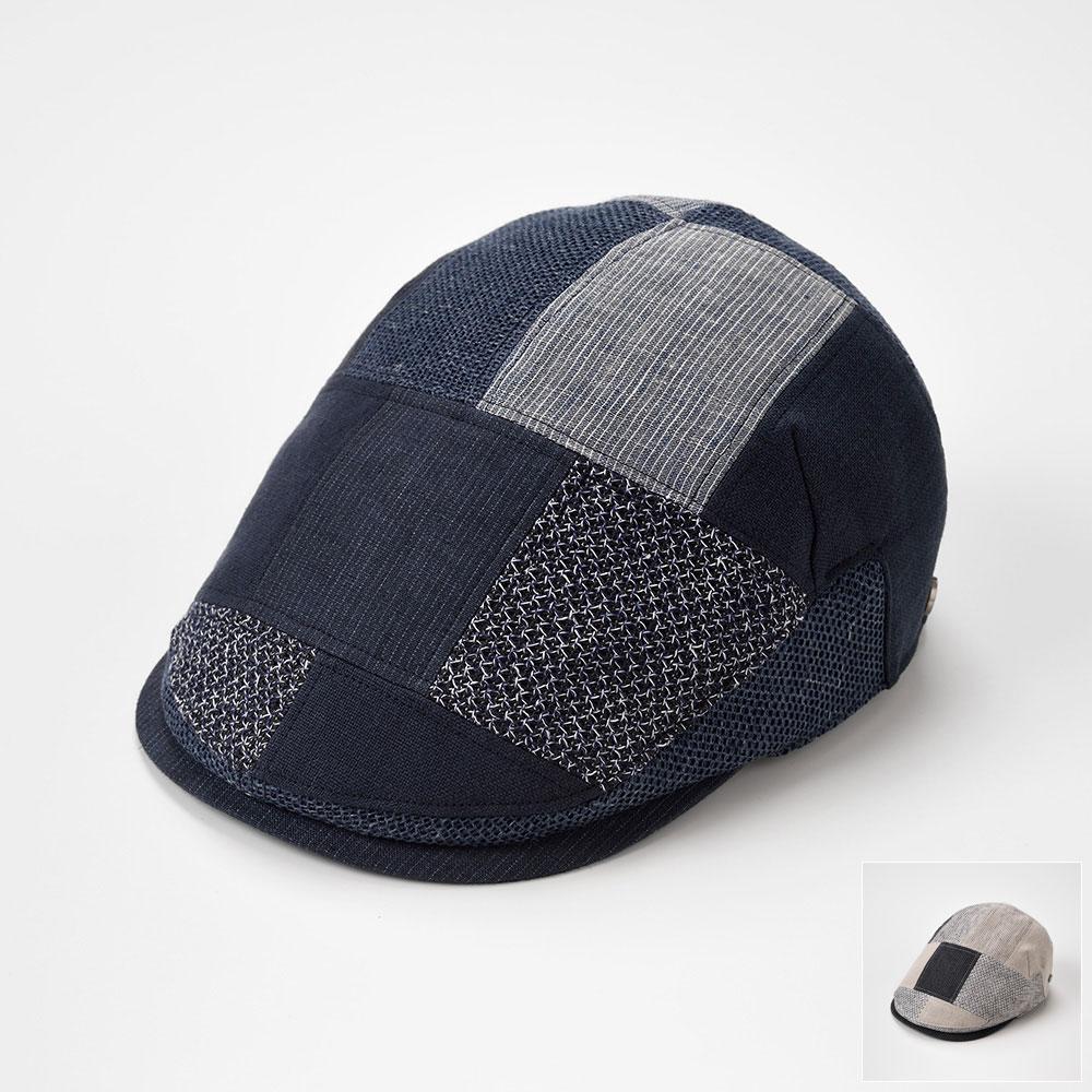 DAKS ダックス ハンチング メンズ レディース ハンチング帽 キャップ 帽子 紳士 大きいサイズ 春 夏 春夏 S M L LL パッチワーク [ハンチングパッチワークD1620] メンズ帽子 紳士帽 プレゼント あす楽 送料無料
