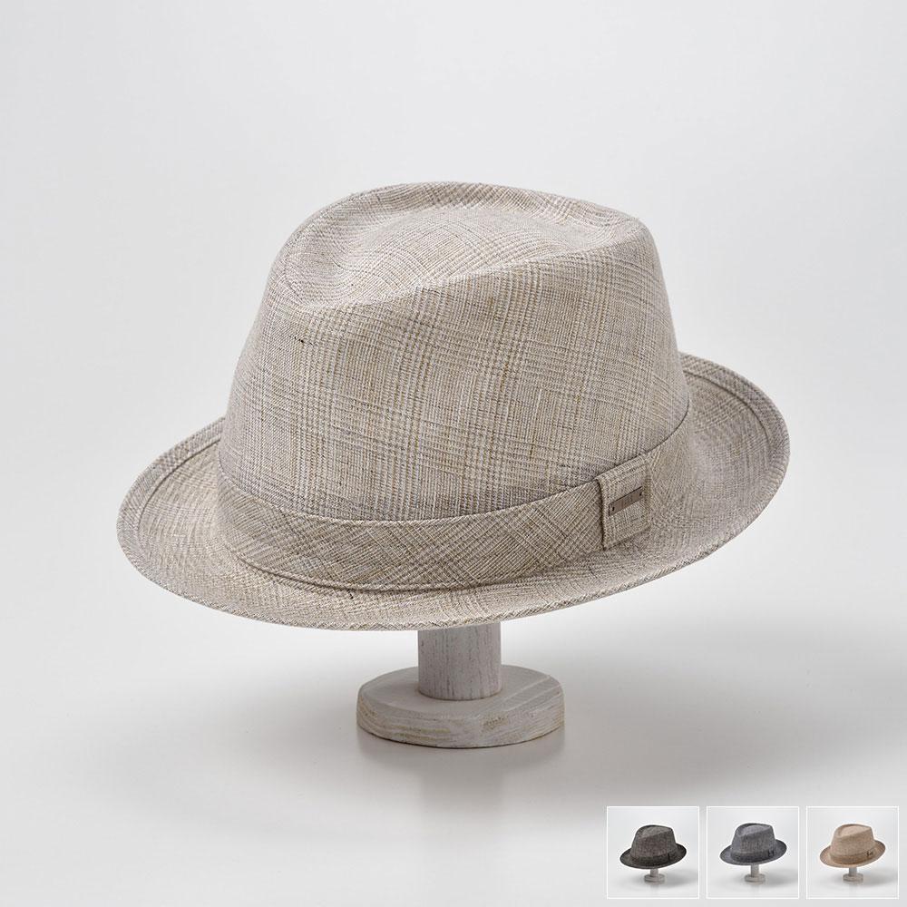 ハット メンズ レディース 春夏 リネン 帽子 グレンチェック 大きいサイズ サイズ調節 散歩 涼しい ベージュ キャメル ネイビー ブラック 57 59 61 DAKS(ダックス) リネングレンチェックハット D1670 父の日 送料無料 あす楽