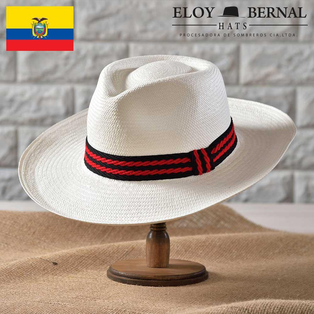 パナマハット メンズ レディース パナマ帽 本パナマ パナマ帽子 紳士 ハット 帽子 中折れ帽子 フェドラ 麦わら 大きいサイズ ティアドロップ ホワイト S M L XL エクアドル製 ELOY BERNAL [カリエンテ] 父の日 あす楽 送料無料