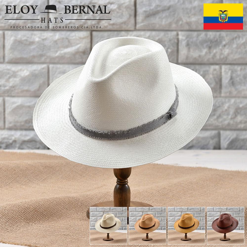 メンズ パナマハット パナマ帽 本パナマ パナマ帽子 レディース 中折れ帽子 フェドラ 大きいサイズ ナチュラル ベージュ ブラウン タバコ ホワイト S M L XL エクアドル製 ELOYBERNAL [プエルタ] 送料無料