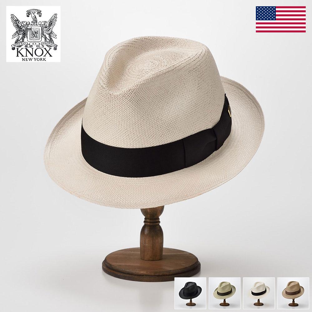 パナマハット メンズ レディース パナマ帽 本パナマ パナマ帽子 撥水 紳士 ハット 帽子 中折れ帽子 大きいサイズ ホワイト ブラウン オリーブ ブラック 日本製 KNOX ノックス [パナマ ハット KSZ] 送料無料 あす楽