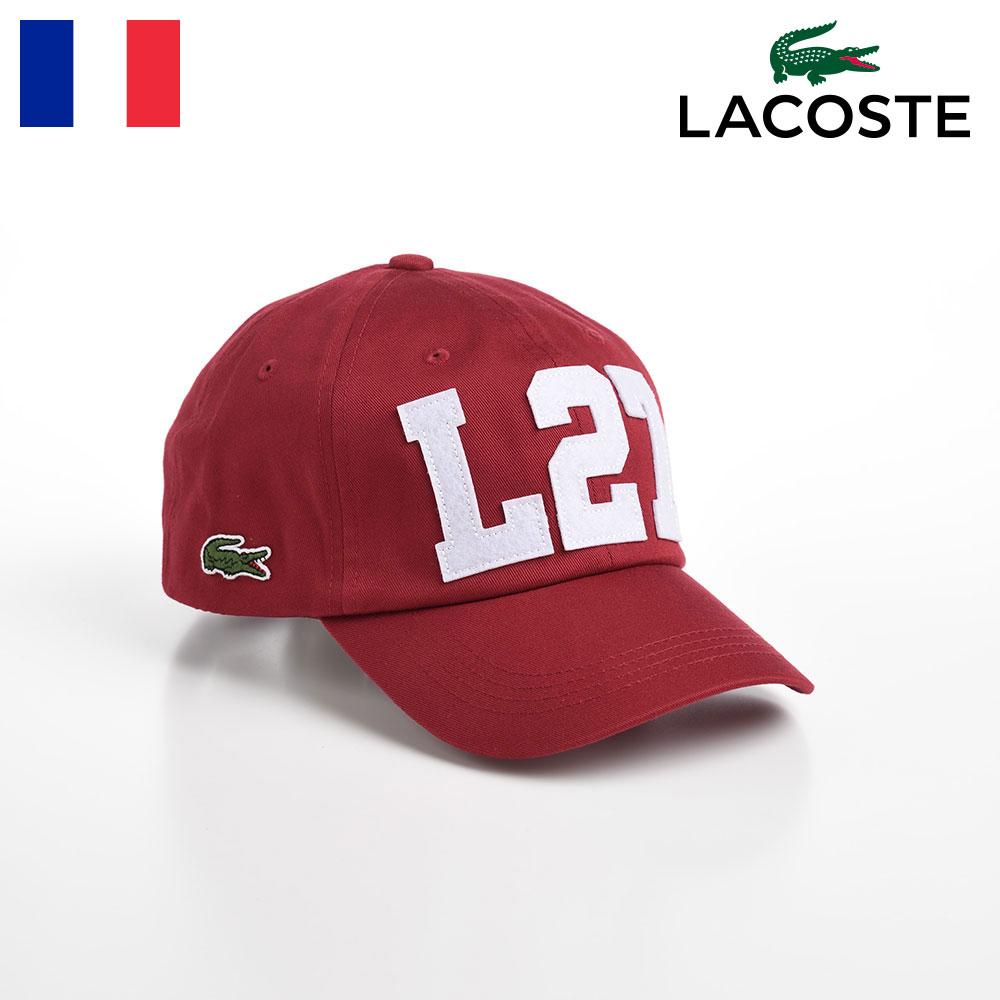 ブランド創始者ルネ・ラコステがデビスカップで優勝した1927年にちなむ、「L27」ロゴを配したシンボリックな一品。コットンツイルでオールシーズン対応のキャップ。 【20%OFFクーポン】LACOSTE キャップ メンズ レディース 帽子 CAP オールシーズン カジュアル シンプル スポーティ ワニロゴ サイズ調整 ユニセックス ギフト プレゼント 送料無料 あす楽 父の日 母の日 ラコステ L27 COTTON CAP(L27 コットンキャップ) L1177 レッド