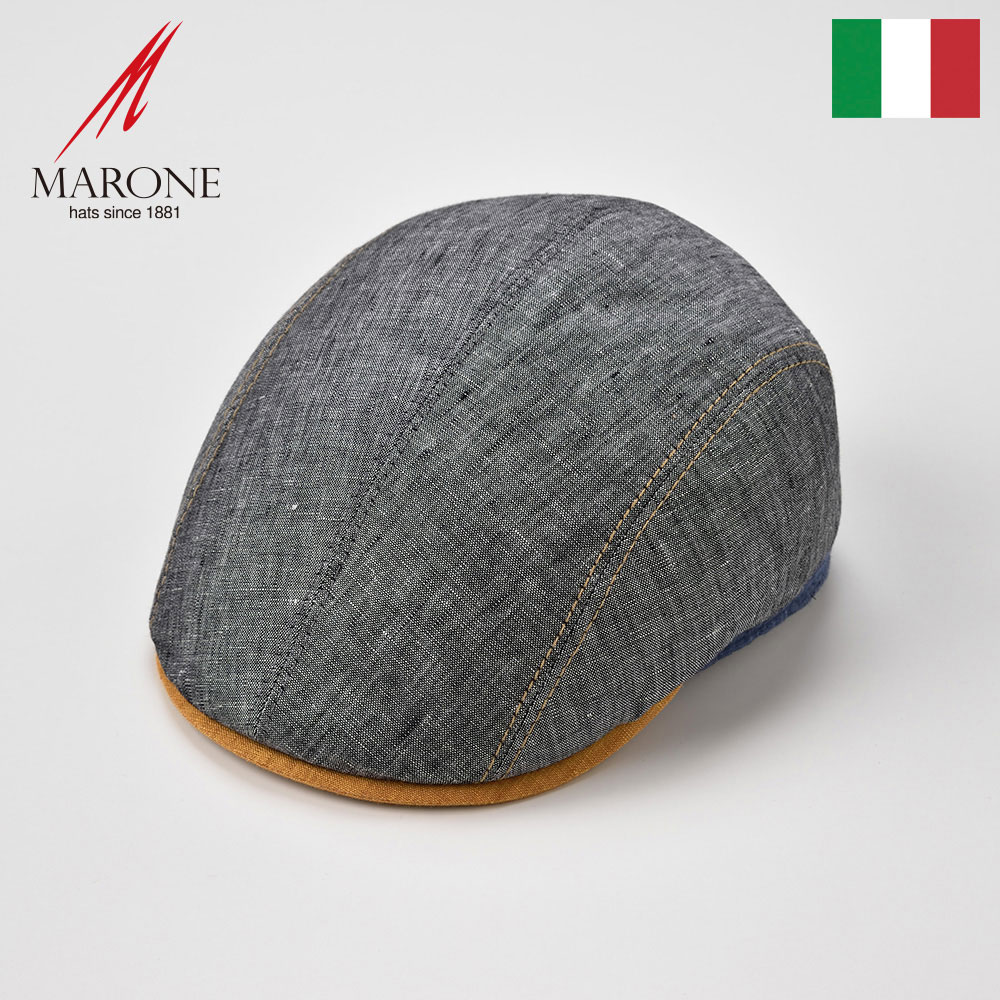 【ハンチング(キャスケット)/MARONE(マローネ)】Unita(ウニタ)≪おしゃれなデザインのイタリア製ハンチング帽/春夏/メンズ/レディース/男性/女性/ハンチング帽子/キャップ/大きいサイズ/ギフト/あす楽≫