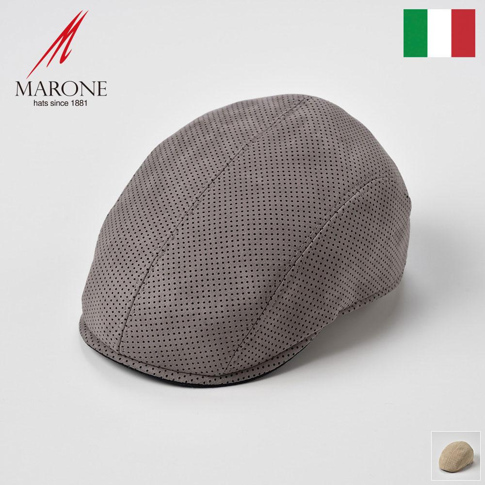 ハンチング 帽子 メンズ 春夏 ハンチング帽 キャップ 大きいサイズ レディース ドット柄 グレー クリーム S(55) M(57) L(59) XL(61) XXL(62) イタリアブランド MARONE(マローネ) ピッキオ あす楽 送料無料