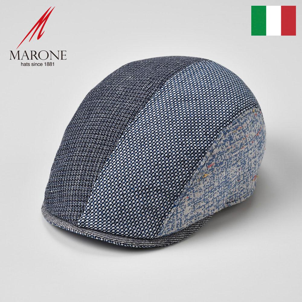 メンズ レディース ハンチング 春夏 マルチカラー 大きいサイズ ハンチング帽 キャスケット 帽子 キャップ S(55) M(57) L(59) XL(61) XXL(62) イタリア製 MARONE マローネ [マーレ] メンズ帽子 あす楽 送料無料