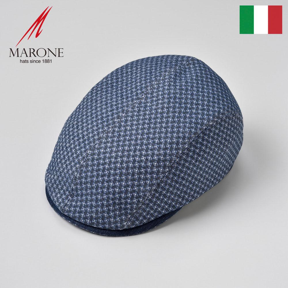メンズ ハンチング 帽子 春夏 小花柄 ハンチング帽 キャップ 大きいサイズ おしゃれ 涼しい レディース 総柄 S(55) M(57) L(59) XL(61) XXL(62) イタリア MARONE(マローネ) ブルファータ 送料無料 あす楽