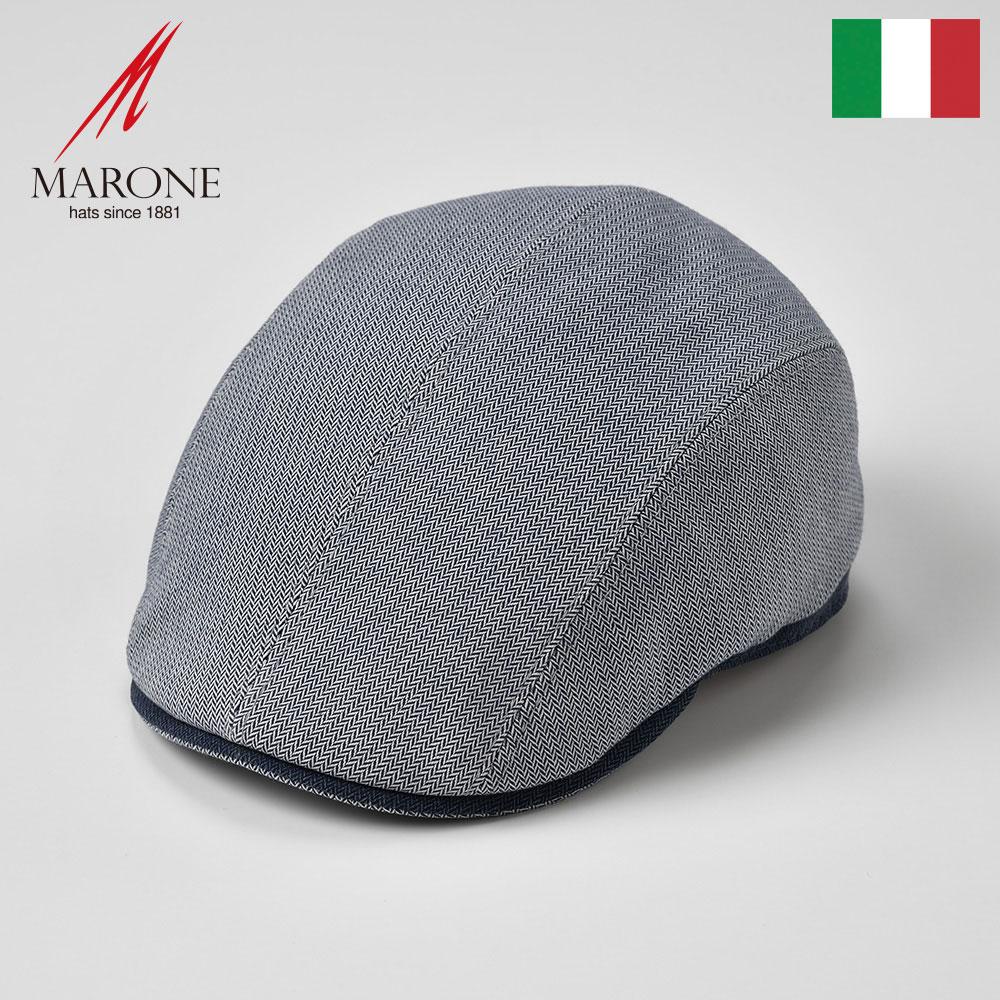 メンズ レディース ハンチング 春夏 大きいサイズ ハンチング帽 キャスケット 帽子 キャップ グレー S(55) M(57) L(59) XL(61) XXL(62) イタリア製 MARONE マローネ [フレスコ] メンズ帽子 あす楽 送料無料