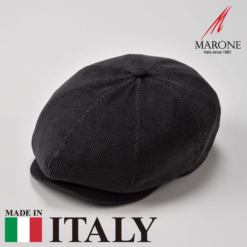 【キャスケット(ハンチング)/MARONE(マローネ)】Mirtillo(ミルティロ)≪おしゃれなデザインのイタリア製キャスケット/秋冬/メンズ/レディース/S/M/L/XL/男性/女性/グレー/コットン/ハンチング帽子/キャップ/大きいサイズ/ギフト/あす楽≫