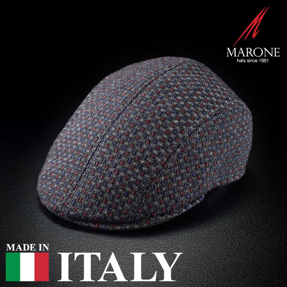 【ハンチング(キャスケット)/MARONE(マローネ)】Uva Quattro(ウーヴァ クアトロ)≪おしゃれなデザインのイタリア製ハンチング帽/秋冬/メンズ/レディース/男性/女性/ハンチング帽子/キャップ/大きいサイズ/ギフト/あす楽≫