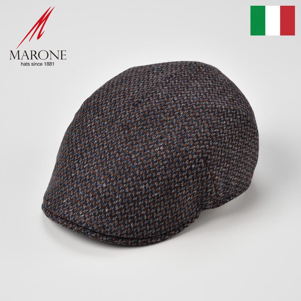グレー中心の3色ミックスカラーが絶妙 バージンウールの帽体とキルティングの裏地で ほっこりあたたか ミックスカラーハンチング メンズ レディース 紳士 秋冬 大きいサイズ 期間限定お試し価格 バージンウール キルティング ハンチング帽子 送料無料 定番から日本未入荷 キャップ ポポロ M 紳士帽 XL マローネ イタリア製 プレゼント L グレー MARONE