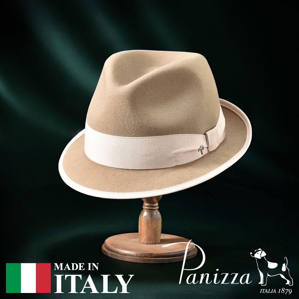 【高級フェルトハット(フェルト帽)/Panizza(パニッツァ)】MASSA MORBIDO(マッサ モルビド)≪イタリアの高級老舗ブランドが作るおしゃれなフェルトハット(中折れハット)メンズ/レディース/男性/女性/帽子/ハット/大きいサイズ/ギフト/あす楽≫