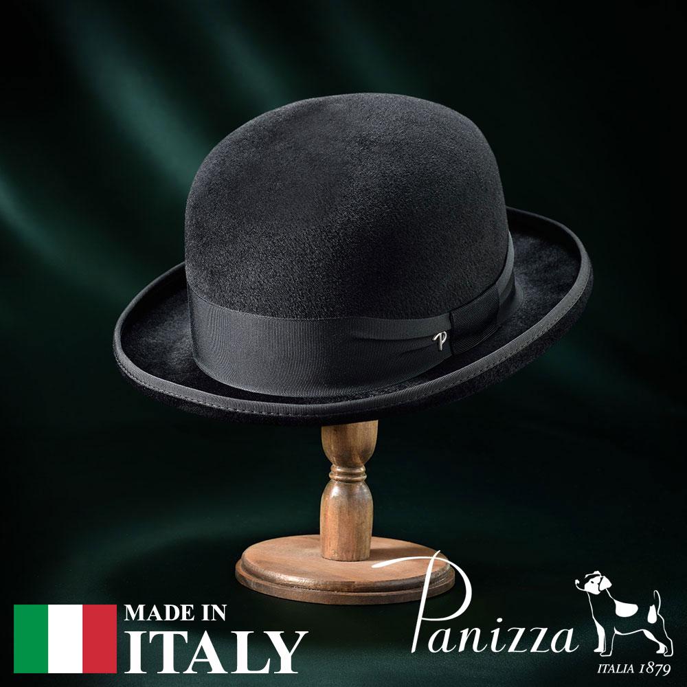 【高級ボーラーハット(ダービーハット)/Panizza(パニッツァ)】FERRARA ARCO(フェラーラ アルコ)≪イタリアの高級老舗ブランドが作るおしゃれなホンブルグハット(フェルトハット)メンズ/レディース/男性/女性/帽子/ハット/大きいサイズ/ギフト/あす楽≫