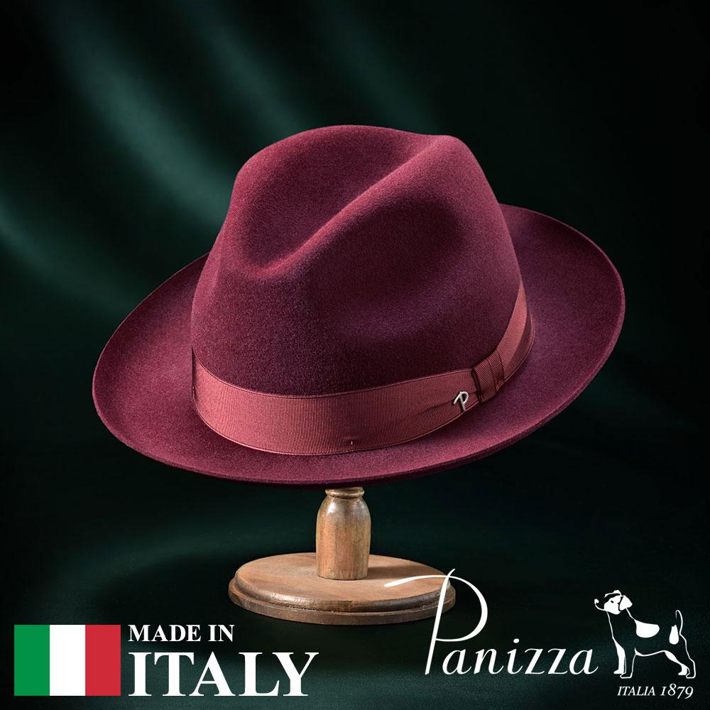 【高級フェルトハット(フェルト帽)/Panizza(パニッツァ)】NAPOLI VINO(ナポリ ヴィーノ)≪イタリアの高級老舗ブランドが作るおしゃれなフェルトハット(中折れハット)メンズ/レディース/男性/女性/帽子/ハット/大きいサイズ/ギフト/あす楽≫