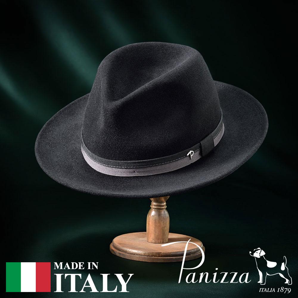 【高級フェルトハット(フェルト帽)/Panizza(パニッツァ)】GORIZIA NASTRO(ゴリツィア ナストロ)≪イタリアの高級老舗ブランドが作るおしゃれなフェルトハット(中折れハット)メンズ/レディース/男性/女性/帽子/ハット/大きいサイズ/ギフト/あす楽≫