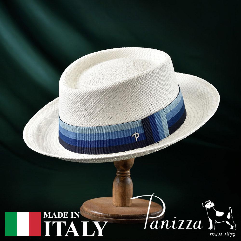 パナマハット パナマ帽 ポークパイハット メンズ レディース 帽子 紳士 春夏 S M L XL Panizza パニッツァ [ファブリツィオビアンコ] 紳士帽 メンズ帽子 紳士ハット ギフト プレゼント 送料無料