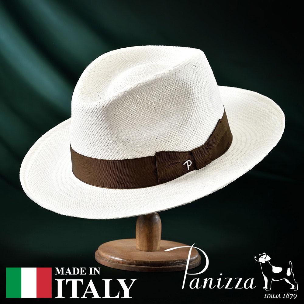 【高級パナマハット(パナマ帽)/Panizza(パニッツァ)】LIDO BIANCO(リド ビアンコ)≪イタリアの高級老舗ブランドが作るおしゃれなパナマハット(中折れハット)メンズ/レディース/男性/女性/帽子/ハット/大きいサイズ/ギフト/あす楽≫