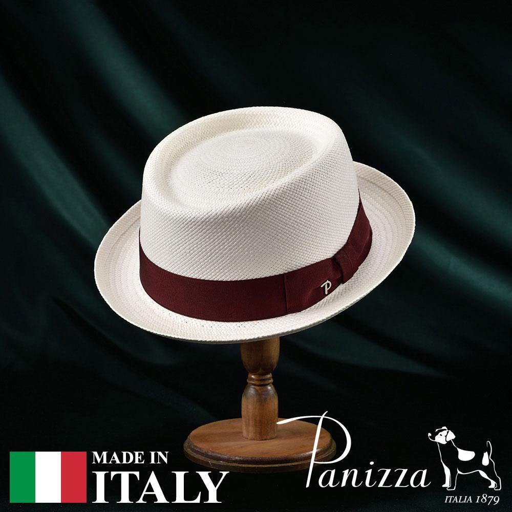 【高級パナマハット(パナマ帽)/Panizza(パニッツァ)】POSITANO BIANCO(ポジターノ ビアンコ)≪イタリアの高級老舗ブランドが作るおしゃれなポークパイハット(中折れハット)メンズ/レディース/男性/女性/帽子/ハット/大きいサイズ/ギフト/あす楽≫