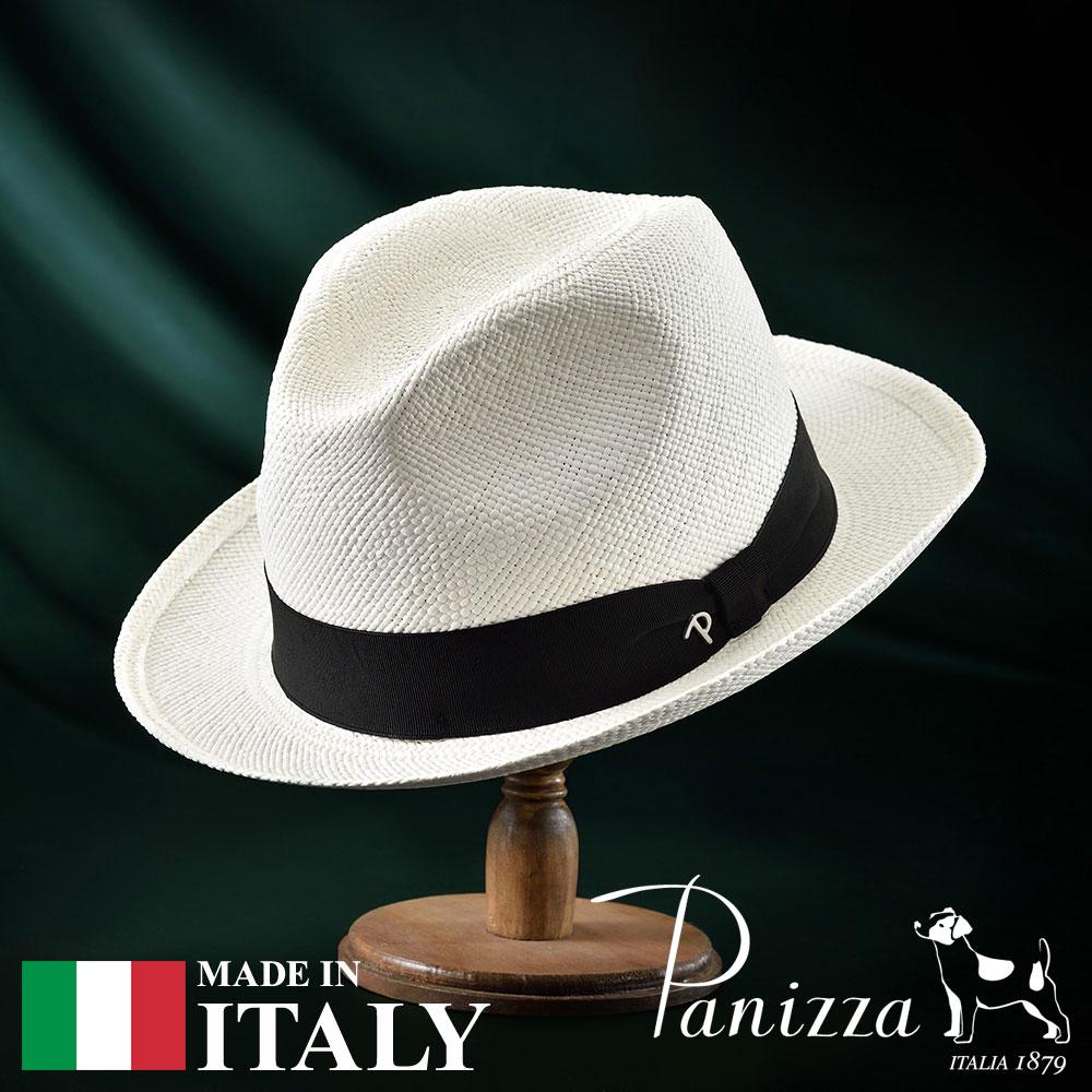 パナマ帽 メンズ レディース パナマハット 中折れ帽子 フェドラハット 帽子 紳士 春夏 S M L XL Panizza パニッツァ [サンレモビアンコ] 紳士帽 メンズ帽子 紳士ハット ギフト プレゼント 送料無料
