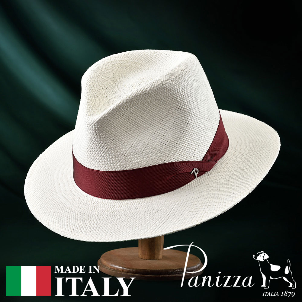 【高級パナマハット(パナマ帽)/Panizza(パニッツァ)】ZAMORA BIANCO(サモーラ ビアンコ)≪イタリアの高級老舗ブランドが作るおしゃれなパナマハット(中折れハット)メンズ/レディース/男性/女性/帽子/ハット/大きいサイズ/ギフト/あす楽≫