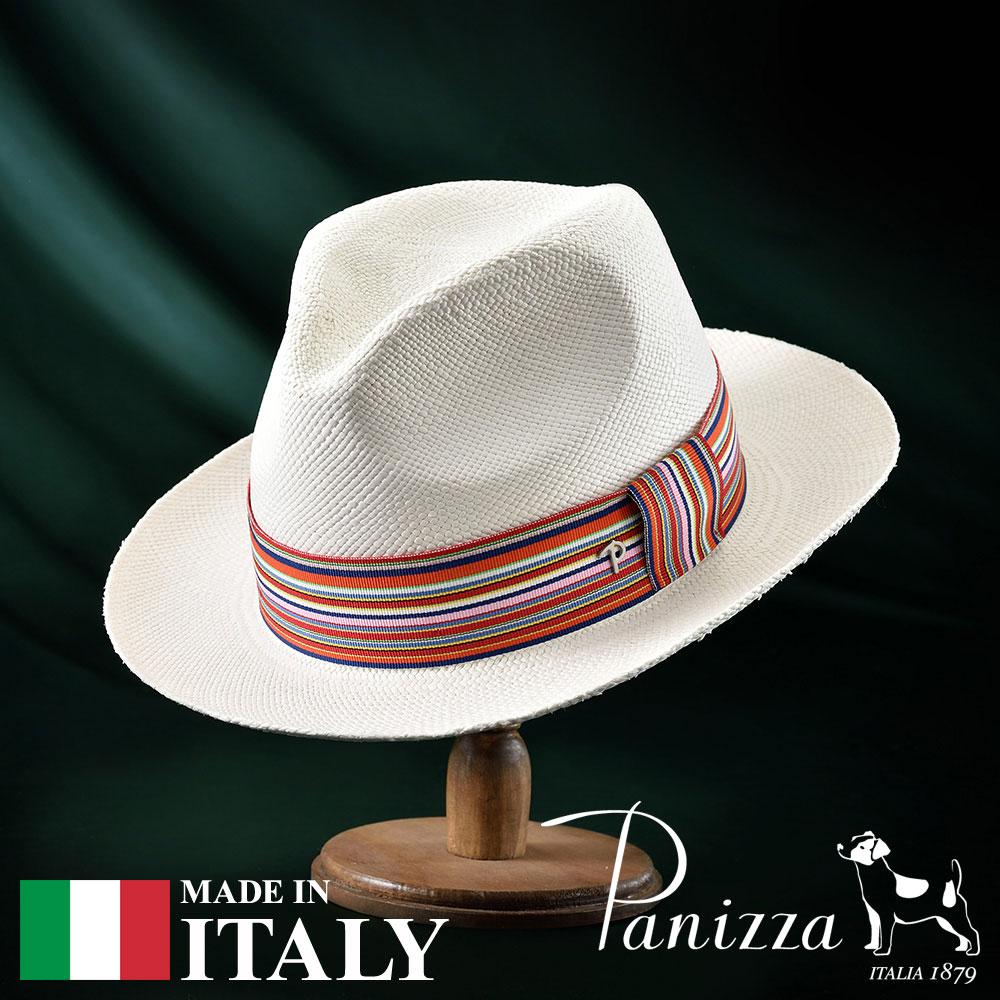パナマ帽 メンズ レディース パナマハット 中折れ帽子 フェドラハット 帽子 紳士 春 夏 春夏 大きいサイズ S M L XL Panizza パニッツァ [マカスビアンコ] 紳士帽 メンズ帽子 紳士ハット ギフト プレゼント あす楽 送料無料