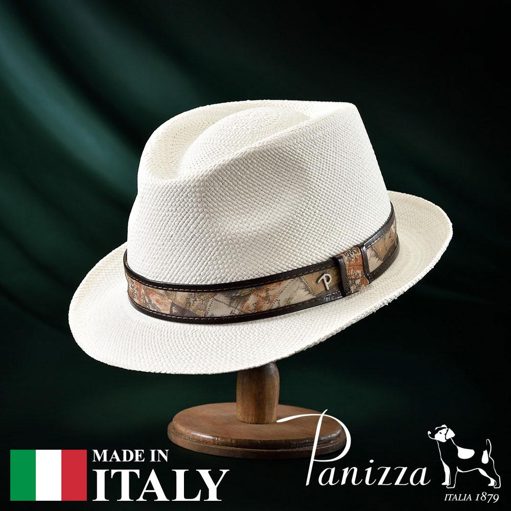 【高級パナマハット(パナマ帽)/Panizza(パニッツァ)】TENA BIANCO(テナ ビアンコ)≪イタリアの高級老舗ブランドが作るおしゃれなパナマハット(中折れハット)メンズ/レディース/男性/女性/帽子/ハット/大きいサイズ/ギフト/あす楽≫