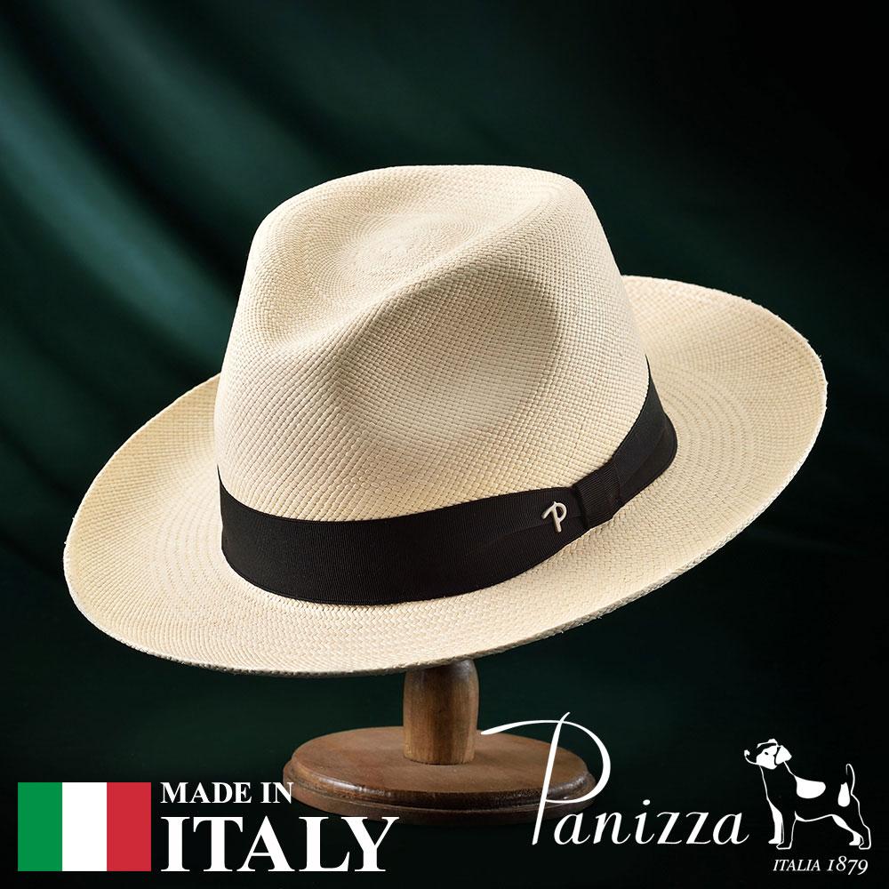 【高級パナマハット(パナマ帽)/Panizza(パニッツァ)】QUITO NATURALE(キト ナチュラレ)≪イタリアの高級老舗ブランドが作るおしゃれなパナマハット(中折れハット)メンズ/レディース/男性/女性/帽子/ハット/大きいサイズ/ギフト/あす楽≫