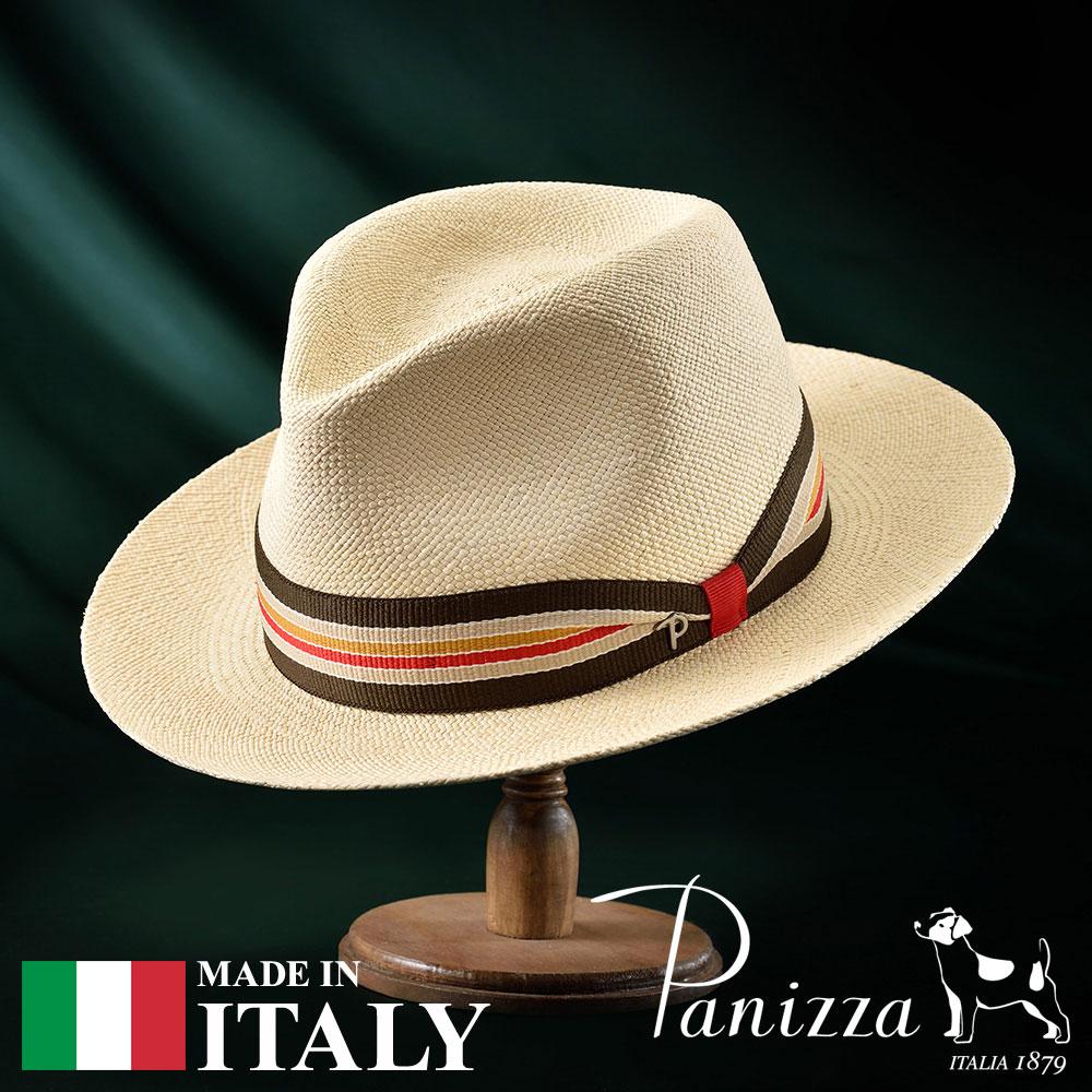 パナマ帽 メンズ レディース パナマハット 中折れ帽子 フェドラハット 帽子 紳士 春夏 S M L XL ナチュラル Panizza パニッツァ [サリーナスナチュラレ] メンズ帽子 紳士ハット プレゼント 送料無料 あす楽