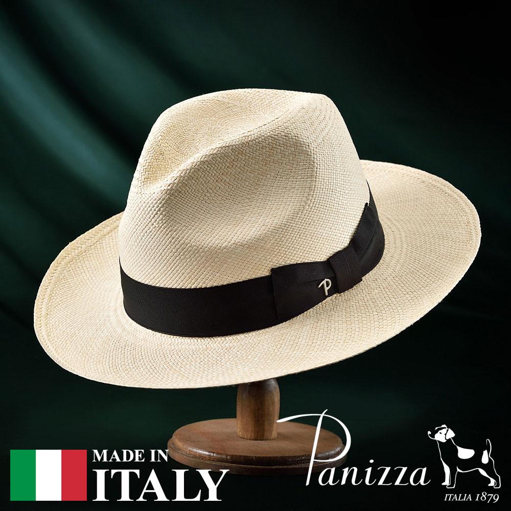 メンズ パナマハット パナマ帽 中折れ帽子 フェドラハット 帽子 レディース 紳士 春夏 S M L XL ナチュラル Panizza パニッツァ [プジョナチュラレ] 紳士帽 メンズ帽子 紳士ハット プレゼント 送料無料