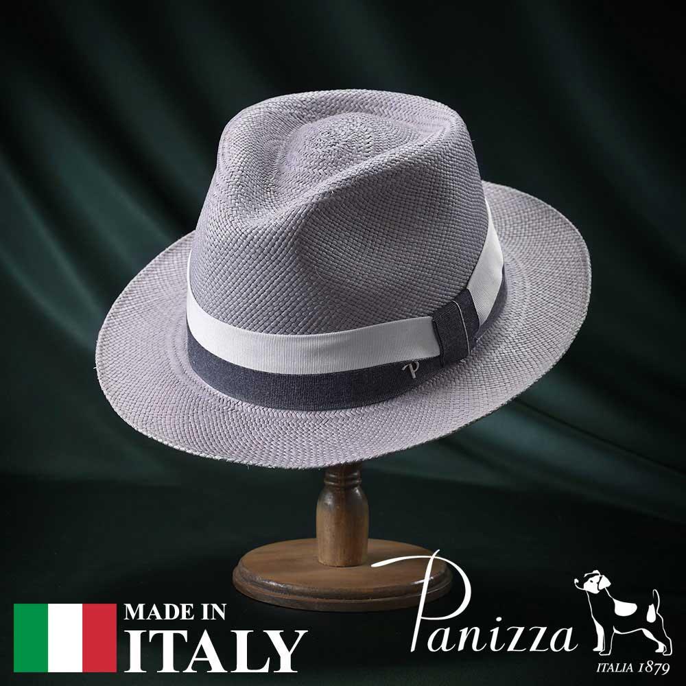 【セール 30%OFF】メンズ パナマハット パナマ帽 中折れ帽子 フェドラハット 帽子 レディース 紳士 春夏 大きいサイズ S M L XL グレー Panizza パニッツァ [ミンドグリージョ] 紳士帽 メンズ帽子 紳士ハット 送料無料 あす楽