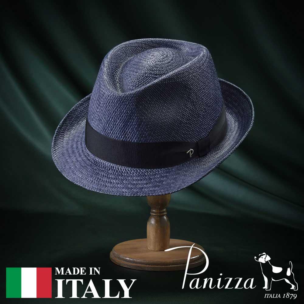 パナマハット メンズ レディース パナマ帽 中折れ帽子 フェドラハット 帽子 紳士 春夏 大きいサイズ S M L XL 紺 ネイビー Panizza パニッツァ [テナマリーノ] 紳士帽 メンズ帽子 紳士ハット プレゼント 送料無料