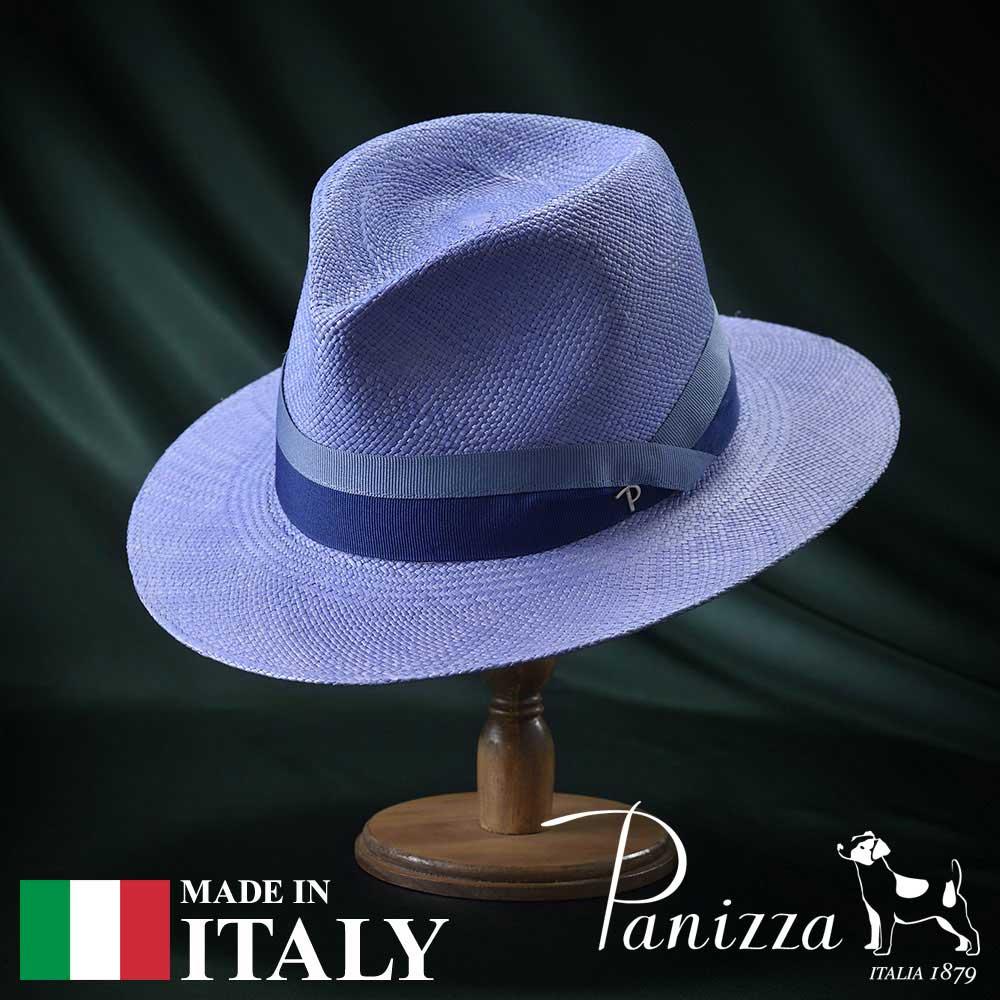 【高級パナマハット(パナマ帽)/Panizza(パニッツァ)】ZAMORA LARGO(サモーラ ラルゴ)≪イタリアの高級老舗ブランドが作るおしゃれなパナマハット(中折れハット)メンズ/レディース/男性/女性/帽子/ハット/大きいサイズ/ギフト/あす楽≫