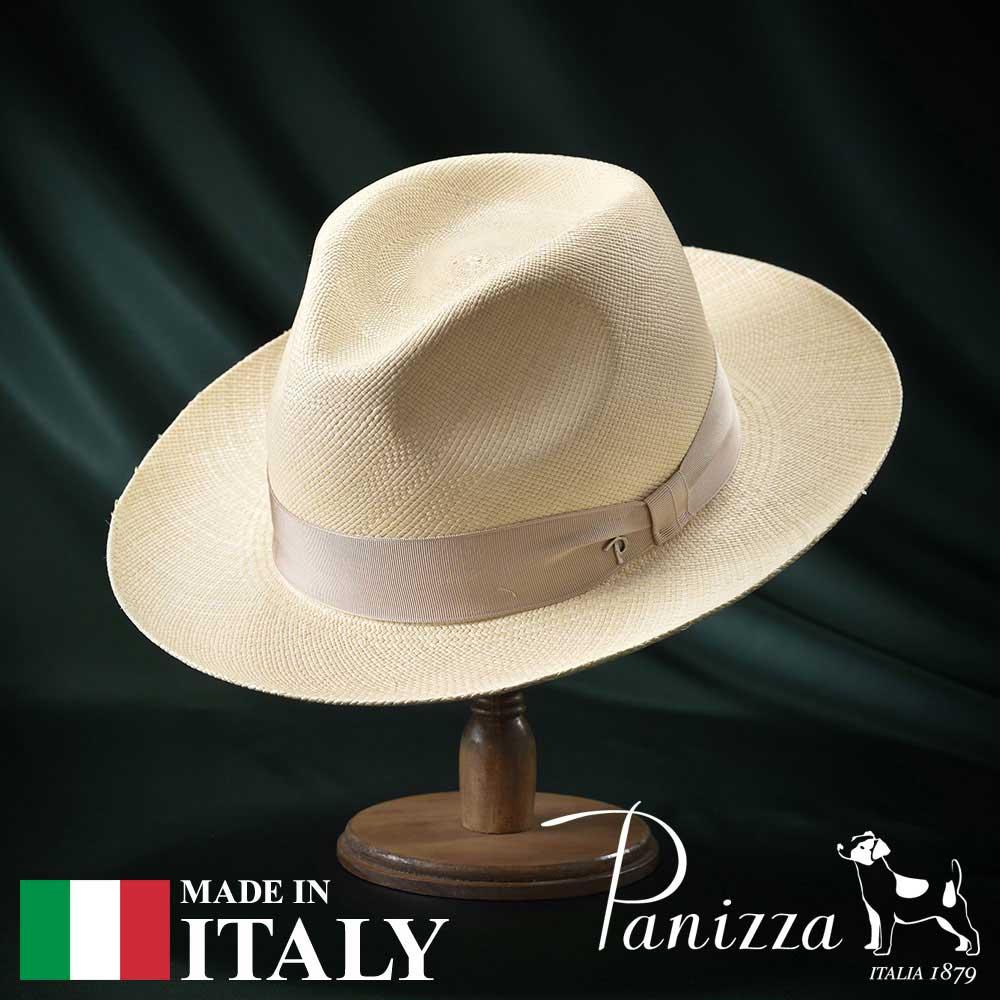 【高級パナマハット(パナマ帽)/Panizza(パニッツァ)】QUITO AROMATICO(キト アロマティコ)≪イタリアの高級老舗ブランドが作るおしゃれなパナマハット(中折れハット)メンズ/レディース/男性/女性/帽子/ハット/大きいサイズ/ギフト/あす楽≫