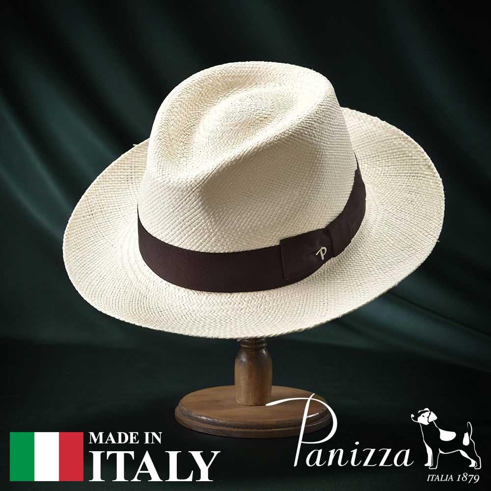 【高級パナマハット(パナマ帽)/Panizza(パニッツァ)】LIDO SEMIBIANCO(リド セミビアンコ)≪イタリアの高級老舗ブランドが作るおしゃれなパナマハット(中折れハット)メンズ/レディース/男性/女性/帽子/ハット/大きいサイズ/ギフト/あす楽≫