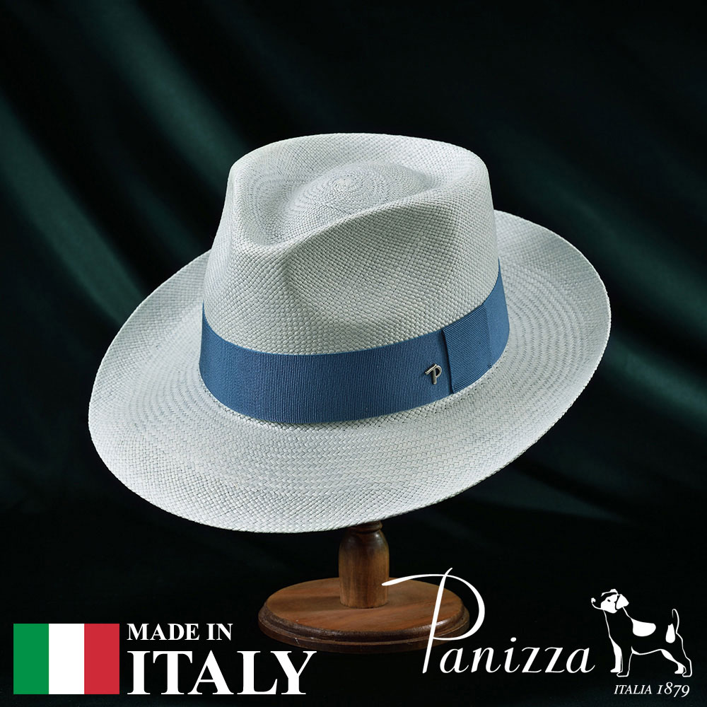 パナマハット メンズ レディース パナマ帽 中折れ帽子 フェドラハット 帽子 紳士 春 夏 春夏 大きいサイズ S M L XL 青 ブルー Panizza パニッツァ [パブロラゲット] 紳士帽 メンズ帽子 紳士ハット プレゼント あす楽 送料無料